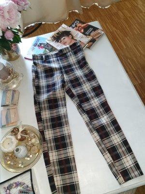 H&M Pantalon 3/4 blanc-noir