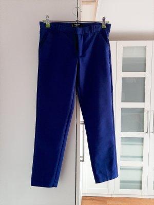 Mango Pantalón tobillero azul Algodón