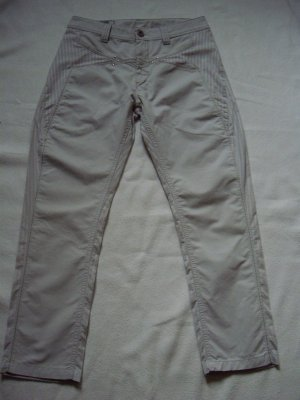 Marithé + Francois Girbaud Low-Rise Trousers grey-light grey cotton