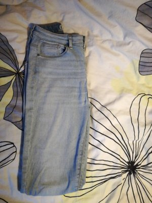 Only Hoge taille jeans leigrijs-azuur