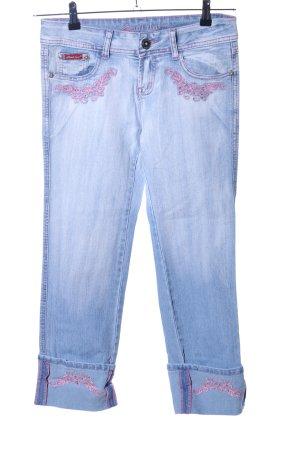 7/8 Jeans blau-pink Casual-Look