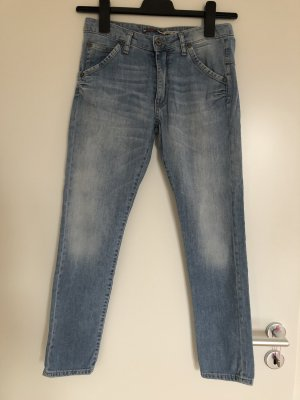 Please Jeans 7/8 bleu azur coton
