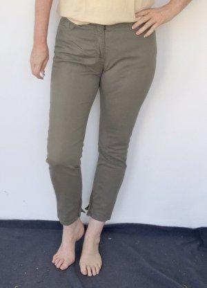 Gina Benotti 7/8 Length Trousers green grey cotton
