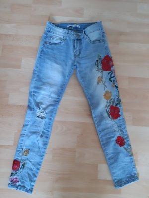 7/8 Length Jeans multicolored cotton