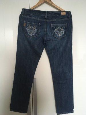 Paige Jeans 7/8 bleu foncé