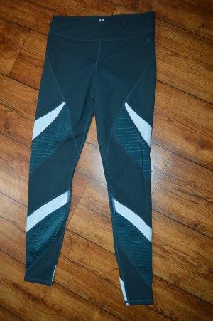 H&M Sport Pantalone da ginnastica petrolio-bianco