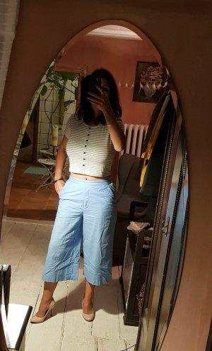 Ichi Culottes azure cotton
