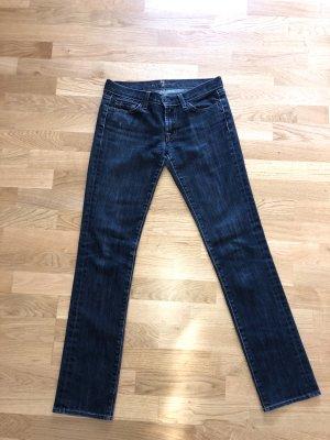 7 For All Mankind Straight Leg Jeans dark blue