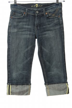 7 For All Mankind 3/4-jeans zwart casual uitstraling
