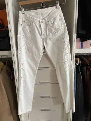 7 For All Mankind Jeansy 7/8 biały