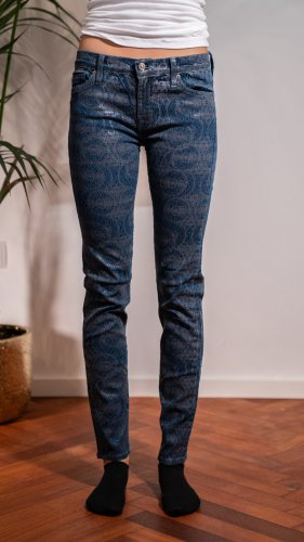 7 For All Mankind Stretch jeans donkerblauw-donkergrijs