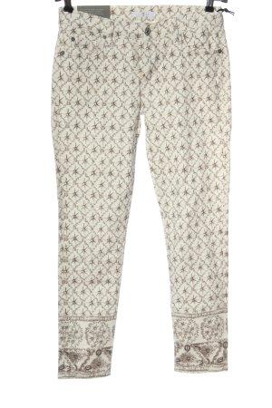7 For All Mankind Pantalone a 7/8 bianco sporco-marrone motivo astratto