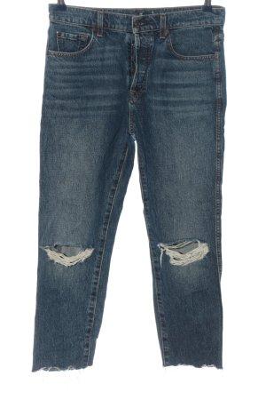 7 For All Mankind 7/8 Jeans blau Street-Fashion-Look