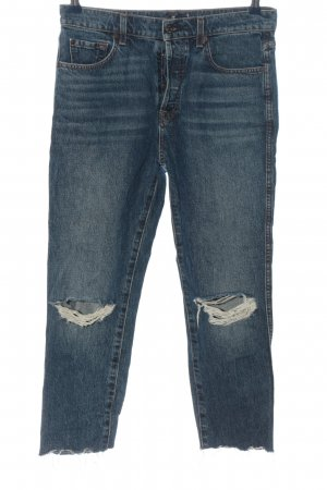 7 For All Mankind 7/8 Jeans blau Street-Fashion-Look