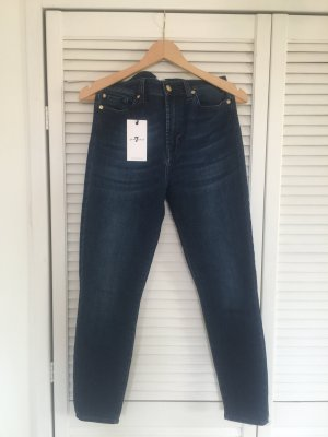 7 For All Mankind High Waist Jeans dark blue-blue