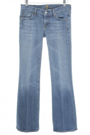 7 For All Mankind Bikerjeans blau Casual-Look