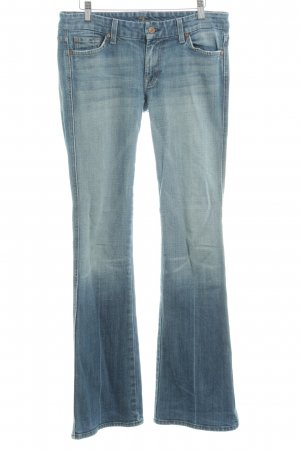 7 For All Mankind Boot Cut Jeans blue mixture fibre