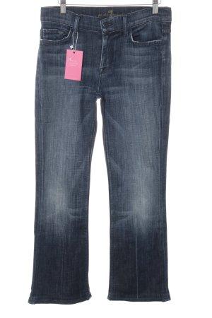 7 For All Mankind Boot Cut Jeans blau-dunkelblau klassischer Stil