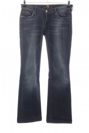7 For All Mankind Boot Cut Jeans blau Street-Fashion-Look