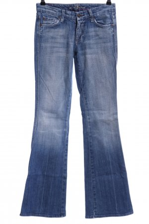 7 For All Mankind Boot Cut Jeans blau Used-Optik