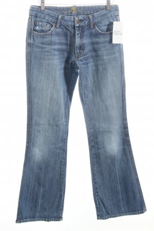 7 For All Mankind Boot Cut Jeans blau-wollweiß Casual-Look