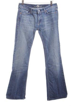 7 For All Mankind Boot Cut Jeans blau-wollweiß Washed-Optik