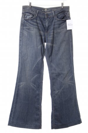 7 For All Mankind Boot Cut Jeans dunkelblau-camel Casual-Look