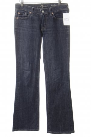 7 For All Mankind Boot Cut Jeans dunkelblau schlichter Stil