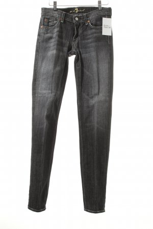 7 For All Mankind Boot Cut Jeans dunkelgrau Used-Optik