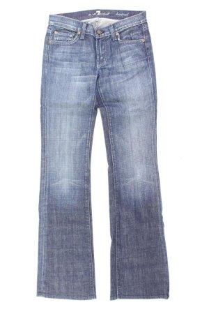 7 For All Mankind Jeans bootcut bleu-bleu fluo-bleu foncé-bleu azur coton