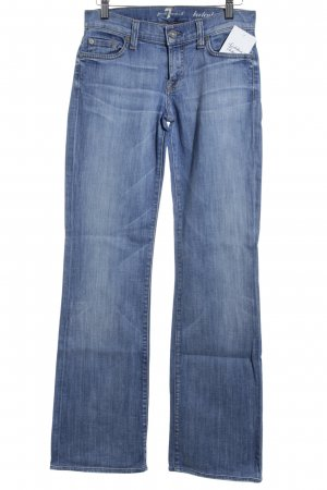 7 For All Mankind Jeans svasati blu fiordaliso stile da moda di strada