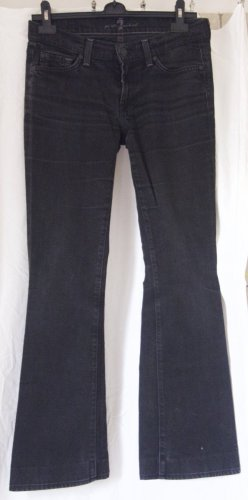 7 For All Mankind Boot Cut Jeans schwarz Casual-Look, nieriger Bund, hervorragender Zustand, Gr. 36/38
