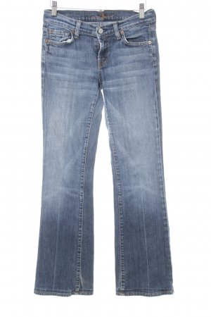 7 For All Mankind Boot Cut Jeans stahlblau Street-Fashion-Look