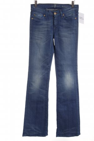 7 For All Mankind Boot Cut Jeans weiß-stahlblau