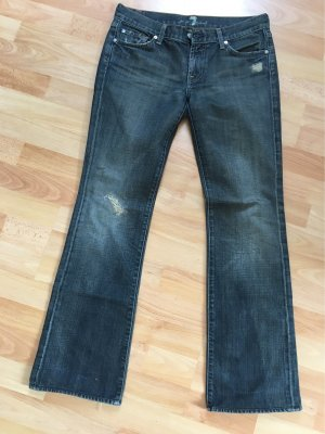 7 For All Mankind Boot Cut Jeans black-brown