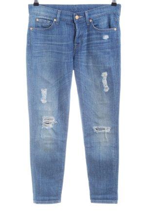 7 For All Mankind Boyfriend jeans blauw straat-mode uitstraling