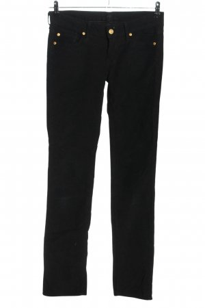 7 For All Mankind Corduroy Trousers black striped pattern casual look