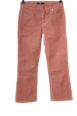 7 For All Mankind Pantalone di velluto a coste rosa stile casual