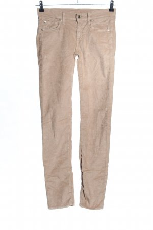 7 For All Mankind Pantalone di velluto a coste marrone puntinato stile casual