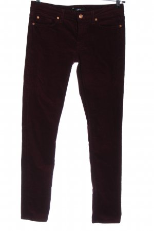7 For All Mankind Pantalone di velluto a coste rosso stile casual