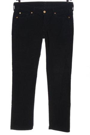 7 For All Mankind Spodnie sztruksowe czarny W stylu casual