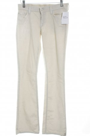 7 For All Mankind Cordhose creme Logo-Applikation