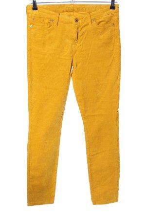 7 For All Mankind Pantalon en velours côtelé jaune primevère