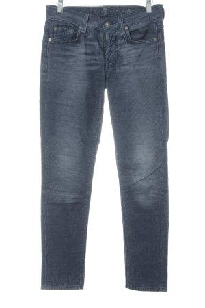 7 For All Mankind Pantalón de pana azul oscuro-gris claro estilo sencillo