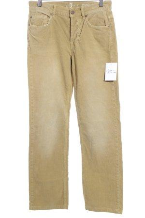 7 For All Mankind Pantalón de pana amarillo limón estilo clásico