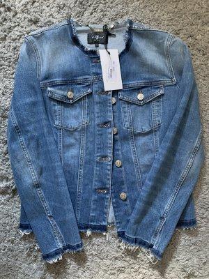 7 For All Mankind Jeansowa kurtka stalowy niebieski-błękitny