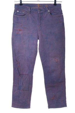 7 For All Mankind Pantalon cinq poches violet-bleu gradient de couleur