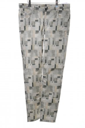 7 For All Mankind Five-Pocket Trousers light grey-natural white abstract pattern