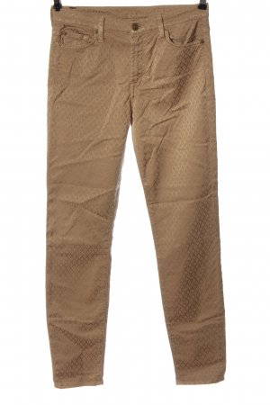 7 For All Mankind Five-Pocket Trousers brown allover print casual look