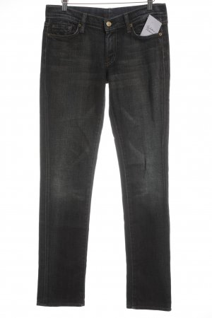 7 For All Mankind Five-Pocket Trousers dark blue-grey brown street-fashion look